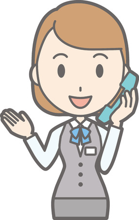 Illustrations of a woman talking on the phone