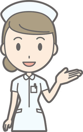 Illustration of a female nurse