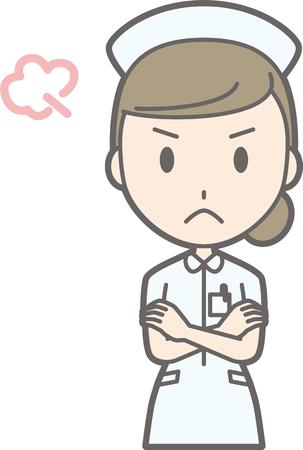 Nurse is angry Illustration