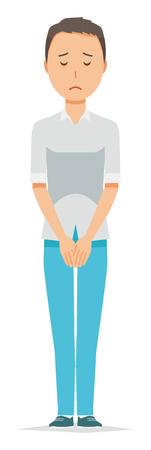 Illustrations apologizing for men wearing short-sleeved shirts.