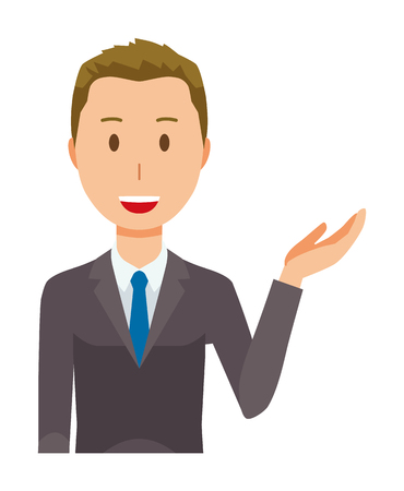 A young businessman is informed Illustration
