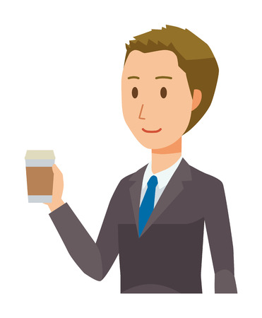 Young businessman having a coffee Illustration