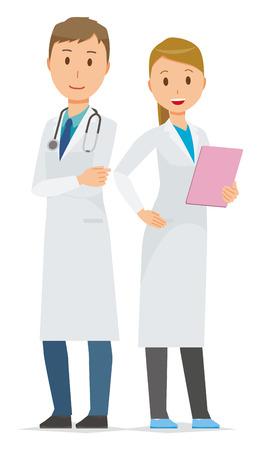 Due giovani membri del personale medico Archivio Fotografico - 95039336