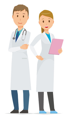 Two young medical staff members