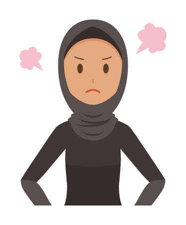 Cartoon angry woman image illustration