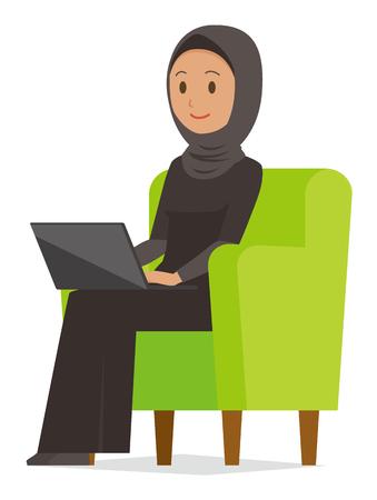 Cartoon woman image illustration