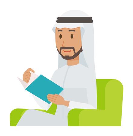 Cartoon man image holding a book illustration