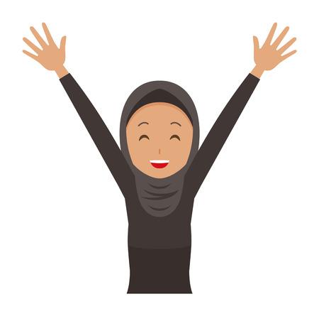 Happy cartoon woman image illustration