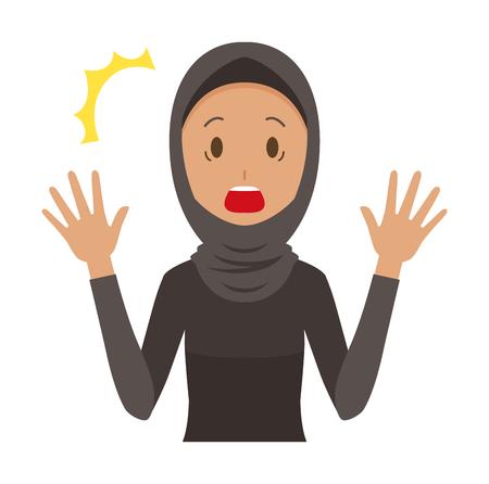 Surprised cartoon woman image illustration