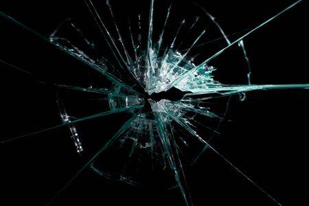 broken glass on a black background 写真素材