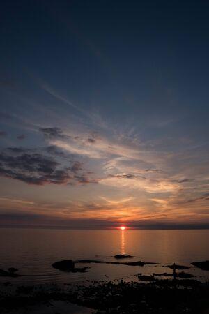 Quiet sea sunset