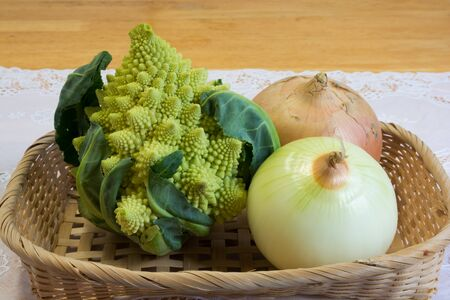 Romanesco and onions