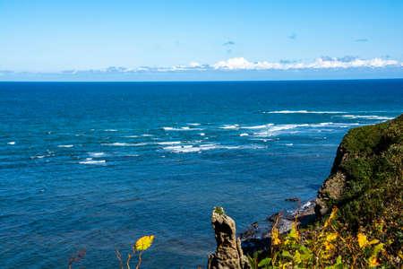 Cliffs and Rippling Sea of Okhotsk