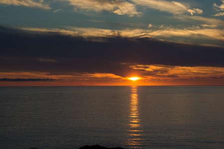 Beautiful calm sea at dusk Stock fotó