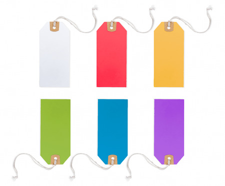 Collection of Price Tag in different color, solated on white background.