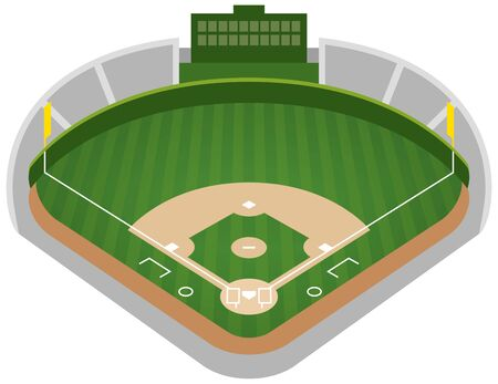 Image illustration of the baseball field