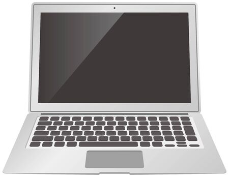 Image illustration of an open laptop (black screen)