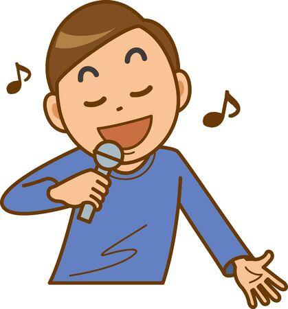 Image illustration of a man doing karaoke