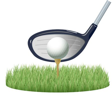 Image illustration of golf ball and tee 9