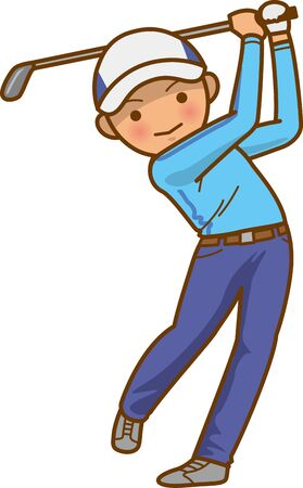 Image illustration of a man in a golf swing