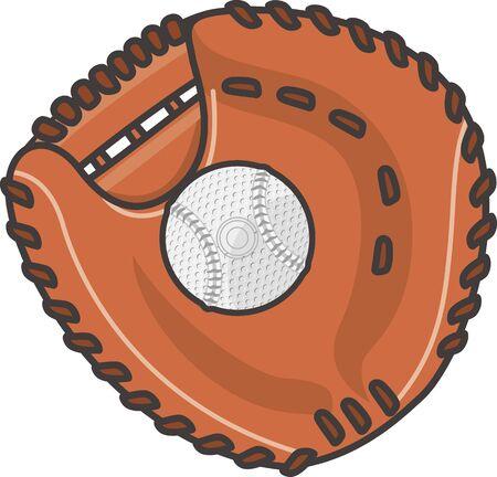 Catcher Mitt and Soft Ball