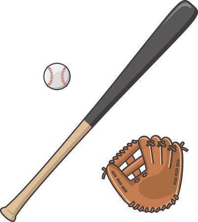 Baseball Bats, Gloves and Hard Balls