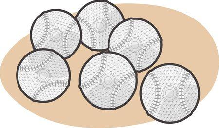 Baseball SoftBall Illustrations