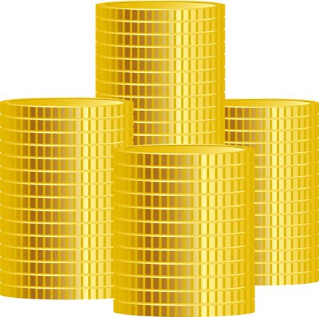 Image illustration of stacked coins 向量圖像