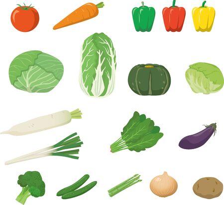 Image illustration set of vegetables