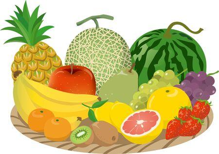 Image illustration of a lot of fruit in a basket