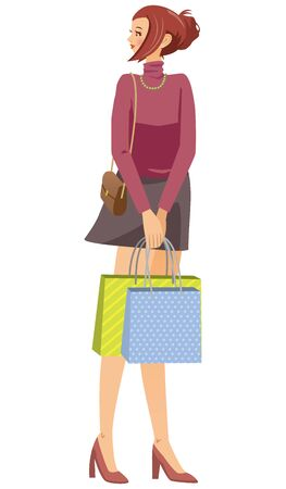Image illustration of the woman who shopped