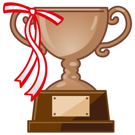 Image illustration of trophy with ribbon (copper)  イラスト・ベクター素材