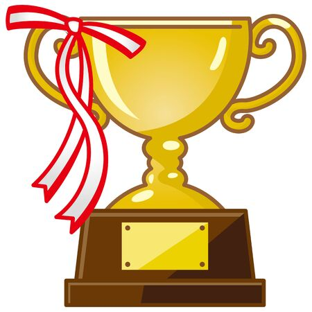 Image of Trophy with Ribbon (gold)