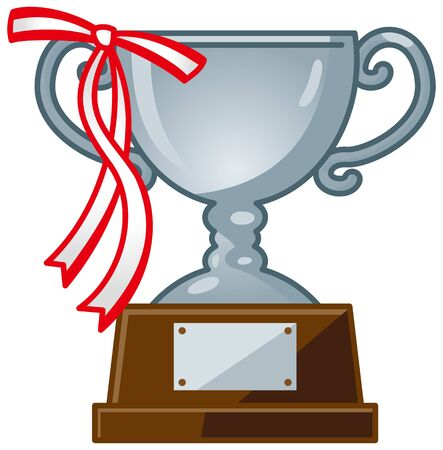 Image illustration of a trophy (silver) with ribbon