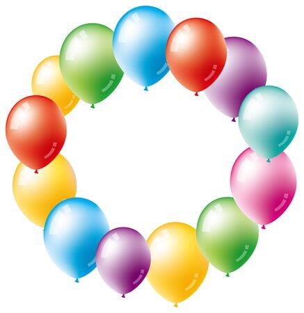 a balloon in a circle