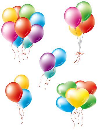 Varias variaciones de globos
