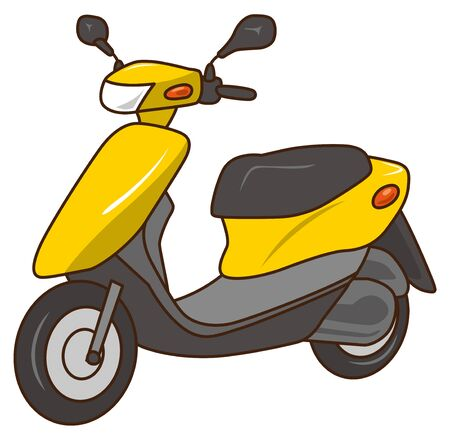 Image illustration of yellow scooter (50cc)