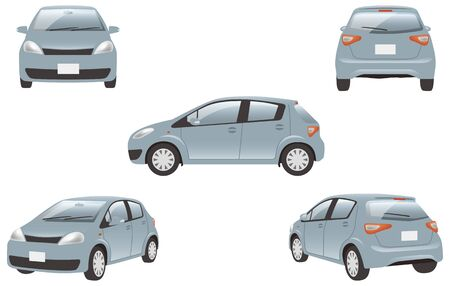 Image illustration of 5 angles (silver) of the car