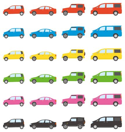 Color variations of automobiles