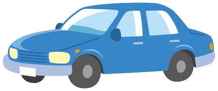 Image illustration of a blue car