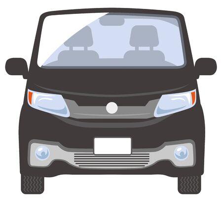 Front illustration of the car (black)