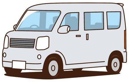 Image illustration of light wagon car (white)