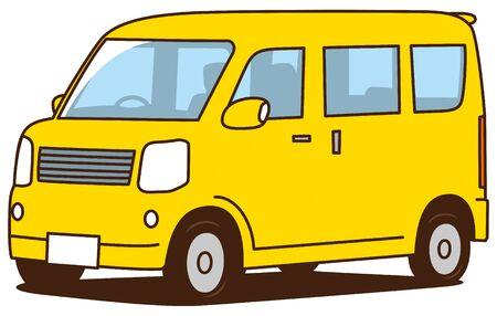 Image illustration of light wagon car (yellow) Vector Illustratie
