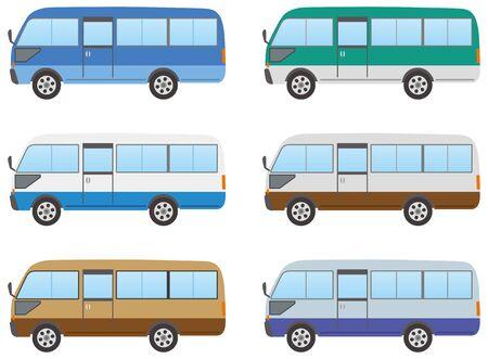 Microbus Illustration (Color Variation)