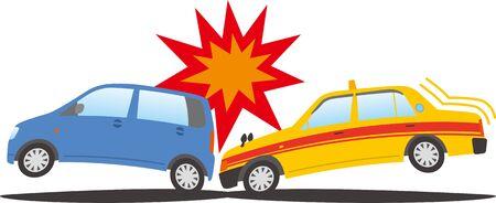 Image of a taxi crashing into a passenger car