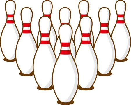 Image illustration of 10 bowling pins