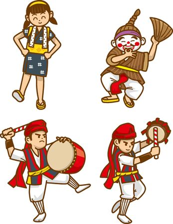 Image illustration of Okinawan traditional culture dance