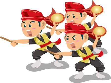 Okinawa's Traditional Culture dance (Perlanchi)
