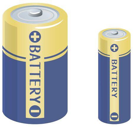 Image illustration of batteries