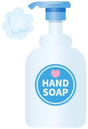 Image illustration of hand soap (foam type) Standard-Bild - 137942269